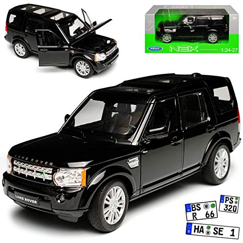 Land Rover Discovery 4 Schwarz 4. Generation 2009-2017 1/24 Welly Modell Auto