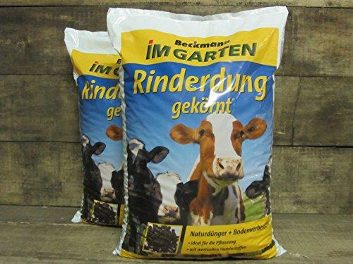 Beckmann Rinderdung Kuhmist Gartendünger Universaldünger Dünger organisch, 25kg (2x12,5kg)