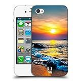 Head Case Designs Farbiger Sonnenuntergang Über Dem Meer Wundevolle Strände Ruckseite Hülle für Apple iPhone 4 / 4S