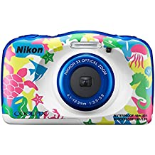 "Nikon Coolpix W100 - Cámara digital compacta de 13.2 MP (pantalla LCD de 2.7"", CMOS, Snapbridge, VR, objetivo Nikkor, USB, vídeo Full HD, WiFi), marina"