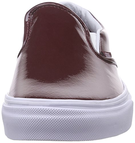 Vans Classic Slip-On, Sneakers Basses Mixte Adulte Rouge (Tumble Patent/Burgundy)