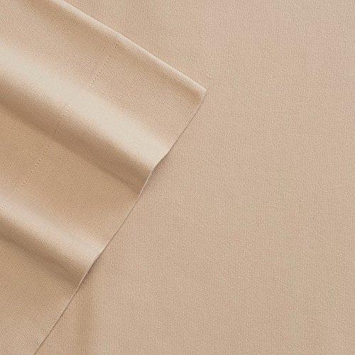 cuddl-duds-heavyweight-twin-size-sheet-set-tan-3-pc-set-fitted-flat-standard-pillowcase-super-soft-f