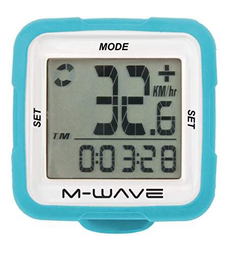 M-Wave Fahrradcomputer XIV Silicon, Blau, 11115