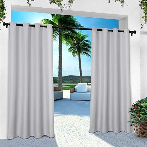 Exclusive Home Vorhänge, Polyester, 1 Paar, Textil, Wolkengrau, 54x84 (Inc Exclusif)