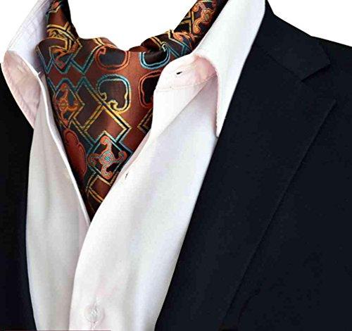 Niseng Herren Krawattenschal Ascot Seidenschal Paisley Jacquard Anzug Zubehör Elegante Party Ascott Schals