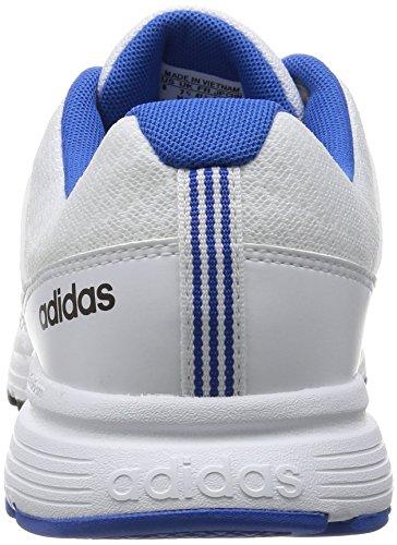adidas Cloudfoam Vs City, Chaussures de Sport Homme Blanc / Noir / Bleu (Ftwbla / Negbas / Bleu)