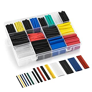 Xinlie Insulation Protection Flame Retardant Heat Shrink Tube Heat Shrink Wrap Assortment Apply to Electrical Wire Cable Wrap Assortment Electric,PE Box Provided 16 Size& 6 Colour(580 Pieces)