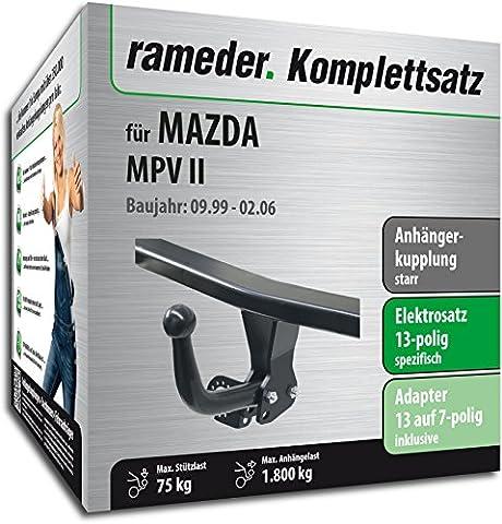 RAMEDER Komplettsatz, Anhängerkupplung starr + 13pol Elektrik für MAZDA MPV