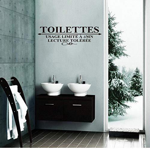 Französisch humor toilette wandtattoo toilette wc vinyl wandaufkleber kunst tapete dekoration 30x90 cm (Halloween Gesundheit Humor)
