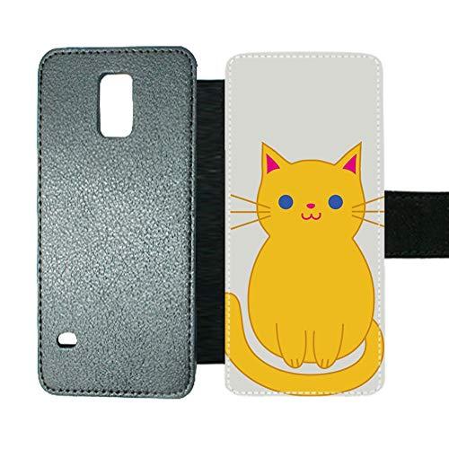 Babu Building Man Haben Cat Clipart Cartoon 1 Einzigartig Verwenden Für S5 Samsung Lederhüllen Kartenschlitz (S5 Otterbox Case Mit Clip)