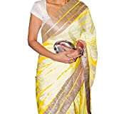House of Zii Women's satin georgette Saree with Blouse