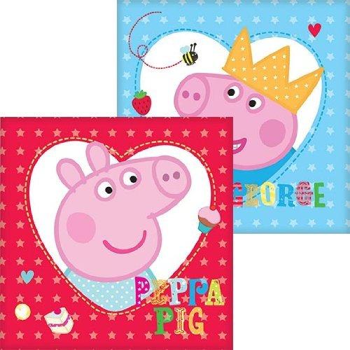 Peppa Pig Party-Servietten (Packung mit 16) (Pig Peppa Thema Geburtstag)