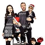 BaZhai de Navidad, Sra. vestido de suéter de servicio a con estampado de copos de nieve para padres e hijos Mujeres de la familia a juego Pijamas de Navidad Vestido de pijamas Ropa de dormir camisetas