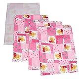 #5: Gurukripa New Born Baby Bed Protector Waterproof Multipurpose Changing Mat Plastic Sheets Baby Changer Sheet Cotton Foam Cushioned Sleeping Mat & Changing Mat Unisex, 0-9 Months, Pack of 1+3 (Pink)