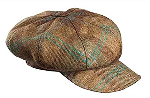 Olney Hats Anne 8 Piece Tweed Cap Ladies Russett or Sage 1-Size (Teal)