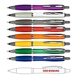 Kugelschreiber mit Logo Werbung bedrucken - schöne Werbegeschenke für Kunden | verschiedene Farben zur Auswahl | 100x Werbekugelschreiber SOL 01