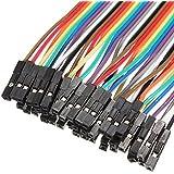 CAOLATOR 1pcs Câbles pour BreadBoard Femelle / Femele , couleur Dupont fils câbles pour Arduino Breadboard (40x 20cm)