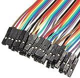 Demarkt 40X 20cm Dupont Cable de Puente Hembra a Hembra para Arduino(multicolor)