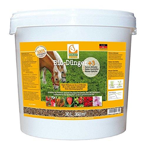 HORSiT Pferdemist Pellets, Biodünger, Naturdünger, Gartendünger, Pferdedünger, Humus-Aktivator, Boden-Durchlüfter, Wasser-Speicher 30 Liter