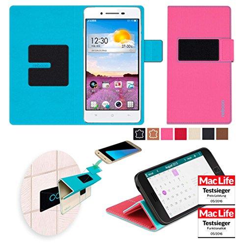 reboon Hülle für Oppo R1 Tasche Cover Case Bumper   Pink   Testsieger