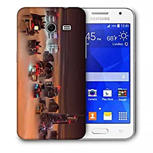 Snoogg Fog In The Top Of Building Printed Protective Phone Back Case Cover For Samsung Galaxy Core 2 / Core II G355H