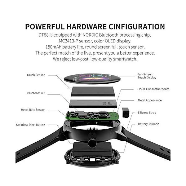 naack smartwatch, Reloj Inteligente Impermeable IP68 Pulsera de Actividad Pulsómetro Monitor de sueño Deportivo… 6