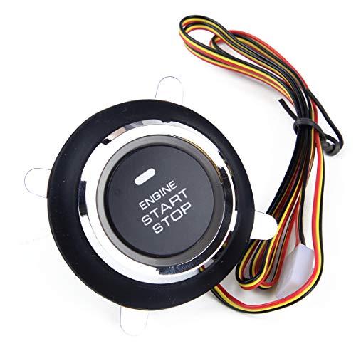beler 3-zeilige 12V Auto Keyless Entry Push Starter Zündung Schalter Motor Start Taster -