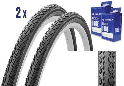 2X Reifen für Trekking oder City Bike 28 x 1.50 mit Schlauch, E-Bike Zulassung (Innova Reifen)