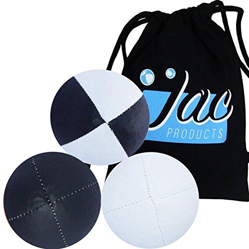Jac Products Professional Jonglierbälle 3er Set Mit Tasche (Schwarz Weiß Schwarz/Weiß)