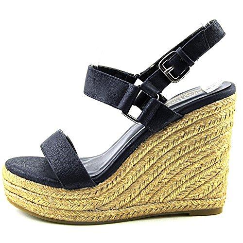 Callisto Mykonos Kunstleder Keilabsätze Sandale Navy