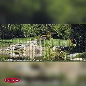 5 Stk. Bellissa Teichschutzzaun Ambiente L116 x H80 cm, inkl. 6 Pfostenanker, ohne Schnörkel, ANTHRAZIT, Spielplatzbegrenzung, Gartenabgrenzung, Terrassenbegrenzung, Tiergehege, Baumschutzzaun, Staudenstützgitter von Gartenwelt Riegelsberger