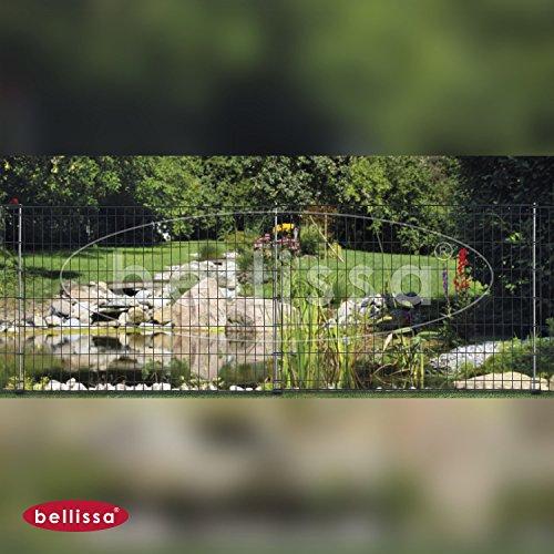 Pfostenanker, Ohne Schnörkel, ANTHRAZIT, Spielplatzbegrenzung,  Gartenabgrenzung, Terrassenbegrenzung, Tiergehege, Baumschutzzaun,  Staudenstützgitter Von ...