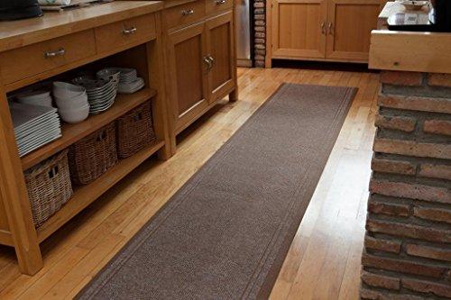 Extreme® Resistente Antideslizante Pasillo camino de mesa en Beige–hecho a medida–Alta calidad de hogar (66x 350cm)