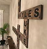 Großen Buchstaben Scrabble-Holz natur–Scrabble Riesen Deko Wand M