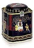 BEERENAUSLESE - Aromatisierter weißer Tee - in einer Black Jap Dose mit Stülpdeckel (Teedose) - 103x103x118mm (200g)