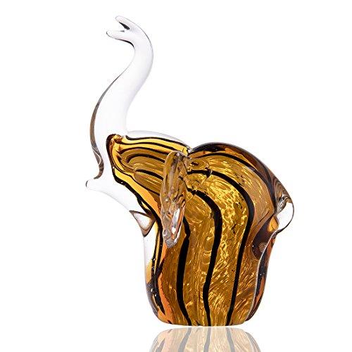 H&D Adorno de Cristal soplado con diseño de Elefante para decoración