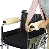 NACHEN Wheelchair Armrest Pad Assist Wheelchair Sheepskin Fleece Armrest Cover Washable Suitable for Wheelchair, Transport Chair And Armchair,A Pair