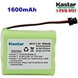 Kastar 1-PACK AA*3 3.6V 1600mAh MSM Ni-MH Rechargeable Battery For Panasonic Type 1 P-P501 PP501 P-P501A PP501A P-P501PA P-P504 PP504 P-P508 P-P508A P-P510 P-P510A PP510A