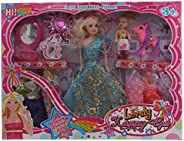 Doll Toy With Additional Dress And Accessories For Girls, Multi color