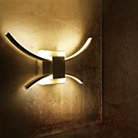 Lámpara de Pared, Aplique LED 10W Iluminación Nocturna Luz Interior de Pared Proyección 4000K 1200LM Bajo Consumo A++ con Metal y Silicona Vida Más de 50000 Horas para Casa,Hotel,Restaurante