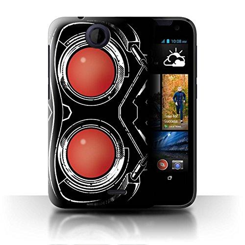 Coque pour HTC Desire 310 Gardiens Comiques Inspiré Masque Casque Starlord Désign Transparent Etui Housse Case Rigide Ultra Mince