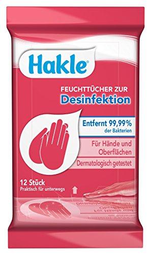 Hakle Feuchttücher Zur Desinfektion, 192 Tücher (16 x 12 Stück) (Desinfektions-feuchttücher)