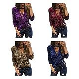 Maglietta a maniche lunghe a maniche lunghe a manica lunga in camicia da stampa Camouflage immagine