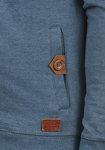 BLEND Alesso Herren Sweatjacke Jacke Zip-Hoodie mit Kapuze und optionalem Teddy-Futter aus hochwertiger Baumwollmischung Ensign Blue (70260)