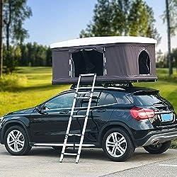 XPHW Hydraulischer Automatischer Dachzelt-selbstfahrender Ausflug Im Freien, Verwendbar Für 2-3 Leute ABS Auto-Zelt-Dachzelt