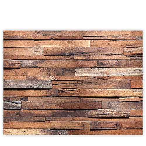 Leinwandbild 100x75 cm - Top - Wandbild XXL Kunstdruck Leinwand Bild Wanddeko Canvas - Holzwand Wand Mauer - no. 174, Qualität Leinwand:Premium Plus