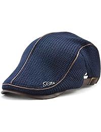 78c25d9a91d Nameblue Men s Cotton Flat Cap Newsboy Ivy Irish Cabbie Scally Cap Cabbie  Driving Caps Hats E91