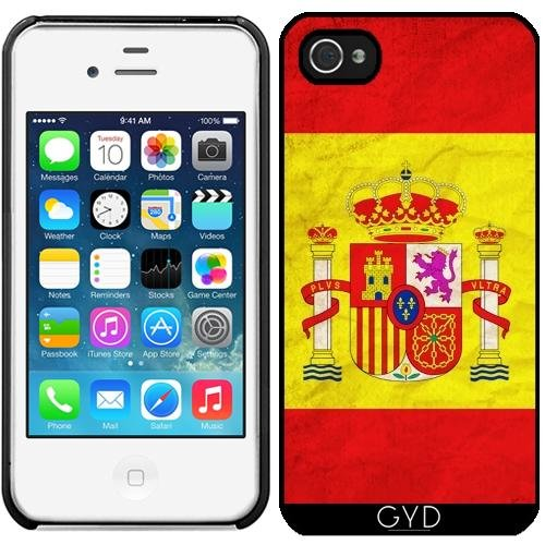 Leder Flip Case Tasche Hülle für Apple iPhone 5C - Spanien Flag Madrid Barcelona by WonderfulDreamPicture Starre Kunststoff