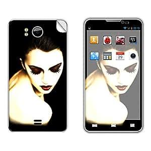 Skintice Designer Mobile Skin Sticker for Micromax Canvas Doodle A111, Design - makeup face