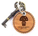Mr. & Mrs. Panda Rundwelle Schlüsselanhänger Pilz - Pilz, Wald Schlüsselanhänger, Anhänger, Taschenanhänger, Glücksbringer, Schlüsselband